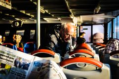 Gente di viaggio da Costantinopoli Cinarcik - in Turchia Immagine Stock Libera da Diritti
