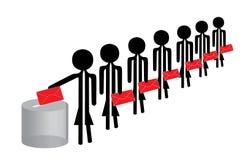 Gente di voto Immagine Stock