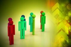 Gente differente in un gruppo Immagini Stock