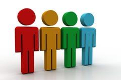 Gente differente in un gruppo Fotografia Stock