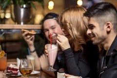 Gente diversa Hang Out Pub Friendship Fotografía de archivo