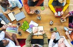 Gente diversa y casual con el diseñador Occupation Imagen de archivo libre de regalías