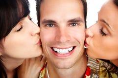 Gente divertente felice Immagini Stock