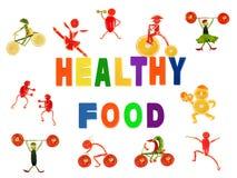 Gente divertente piccola fatta delle verdure e della frutta Immagini Stock