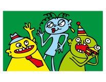 Gente divertida del partido Imagen de archivo libre de regalías