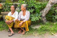 Gente durante la celebración antes de Nyepi - día del Balinese del silencio Fotografía de archivo