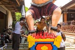 Gente durante la celebración antes de Nyepi - día del Balinese del silencio Imágenes de archivo libres de regalías