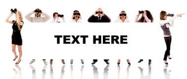Gente - el texto aquí firma Imagen de archivo
