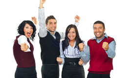 Gente emozionante dei vincitori Fotografia Stock