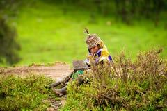 Gente en AKSUM, ETIOPÍA Imágenes de archivo libres de regalías