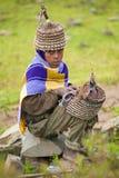 Gente en AKSUM, ETIOPÍA Foto de archivo libre de regalías