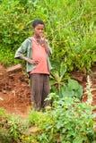 Gente en AKSUM, ETIOPÍA Foto de archivo