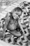 Gente en Benin, en blanco y negro Imagenes de archivo