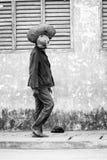 Gente en Benin, en blanco y negro Imágenes de archivo libres de regalías
