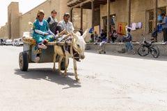 Gente en BUKHARA, UZBEKISTÁN Imagen de archivo libre de regalías