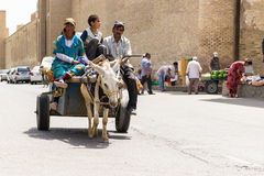 Gente en BUKHARA, UZBEKISTÁN Imagen de archivo