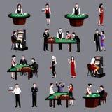 Gente en casino Fotografía de archivo libre de regalías