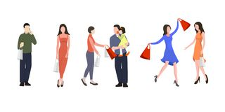 Gente en centro comercial Imágenes de archivo libres de regalías