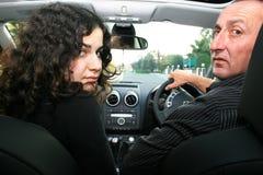 Gente en coche Fotografía de archivo libre de regalías
