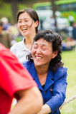 Gente en COREA DEL NORTE  Foto de archivo libre de regalías