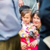 Gente en COREA DEL NORTE  Fotos de archivo libres de regalías