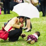 Gente en COREA DEL NORTE  Imagen de archivo libre de regalías