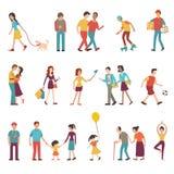 Gente en diversas formas de vida libre illustration