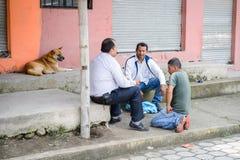 Gente en Ecuador Imagen de archivo