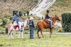 Gente en Ecuador Imagen de archivo libre de regalías