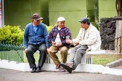 Gente en Ecuador Foto de archivo libre de regalías