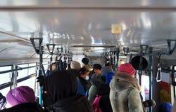 ¡Gente en el autobús! Fotografía de archivo libre de regalías
