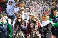 Gente en el carnaval Fotografía de archivo