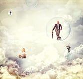 Gente en el cielo Fotos de archivo libres de regalías