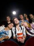 Gente en el cine Imágenes de archivo libres de regalías