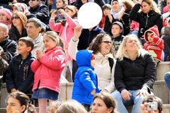 Gente en el concierto Imágenes de archivo libres de regalías