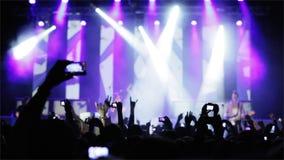 Gente en el concierto de rock almacen de metraje de vídeo
