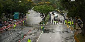 Gente en el entierro de estado de Lee Kuan Yew Imagenes de archivo