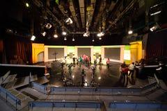 Gente en el estudio de la estación de televisión de Ostankino Imagen de archivo