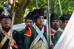 Gente en el evento de Napoleonica Representación vestida en magnific Fotografía de archivo libre de regalías