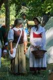 Gente en el evento de Napoleonica Representación vestida en magnific Fotografía de archivo