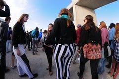 Gente en el festival 2013 del sonido de Heineken Primavera Imagen de archivo libre de regalías