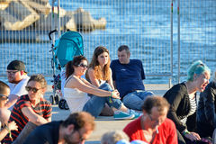 Gente en el festival 2014 del sonido de Heineken Primavera (PS14) Fotografía de archivo libre de regalías