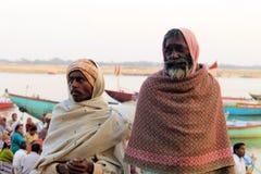 Gente en el Ganges Foto de archivo