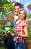 Gente en el jardín Imagen de archivo libre de regalías