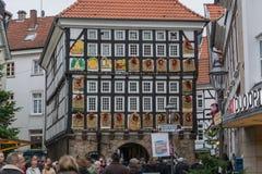 Gente en el mercado de la Navidad en Hattingen Fotografía de archivo libre de regalías