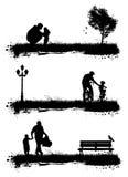 Gente en el parque stock de ilustración