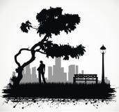Gente en el parque. Fotos de archivo libres de regalías