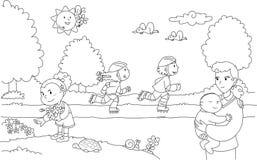 Gente en el parque libre illustration