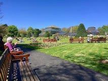 Gente en el parque de Kelvingrove en Glasgow imágenes de archivo libres de regalías