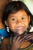 Gente en el PUEBLO de EMBERA, PANAMÁ Fotografía de archivo